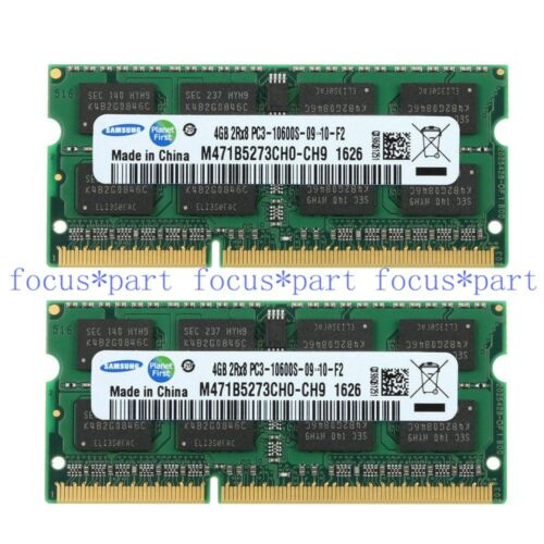 Samsung 4GB 8GB 16GB DDR3-1333MHz PC3-10600 SODIMM Laptop Memory notebook lot