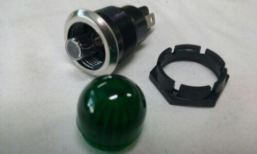 ROUND 12VOLT INDICATOR LAMP GREEN