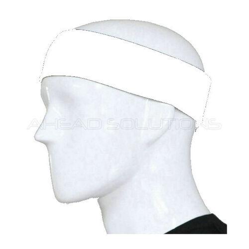 Cool Sweat Absorb Towel Make-Up Pro Sport Sweatband Black White Head Hair Band