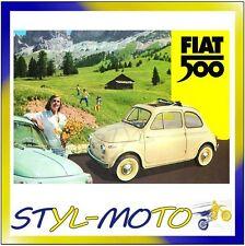 FIBL23 FIAT 500 CARTOLINA LATTA CM 15X21 BANDA GIALLA CAMPAGNA/FIAT UFFICIALE