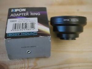 Lens adpater Kipon eos to pentax q for manual lens only