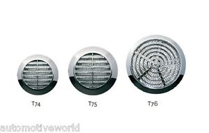 Chrome circle air vent grille silver round furniture door for Furniture covers air vent
