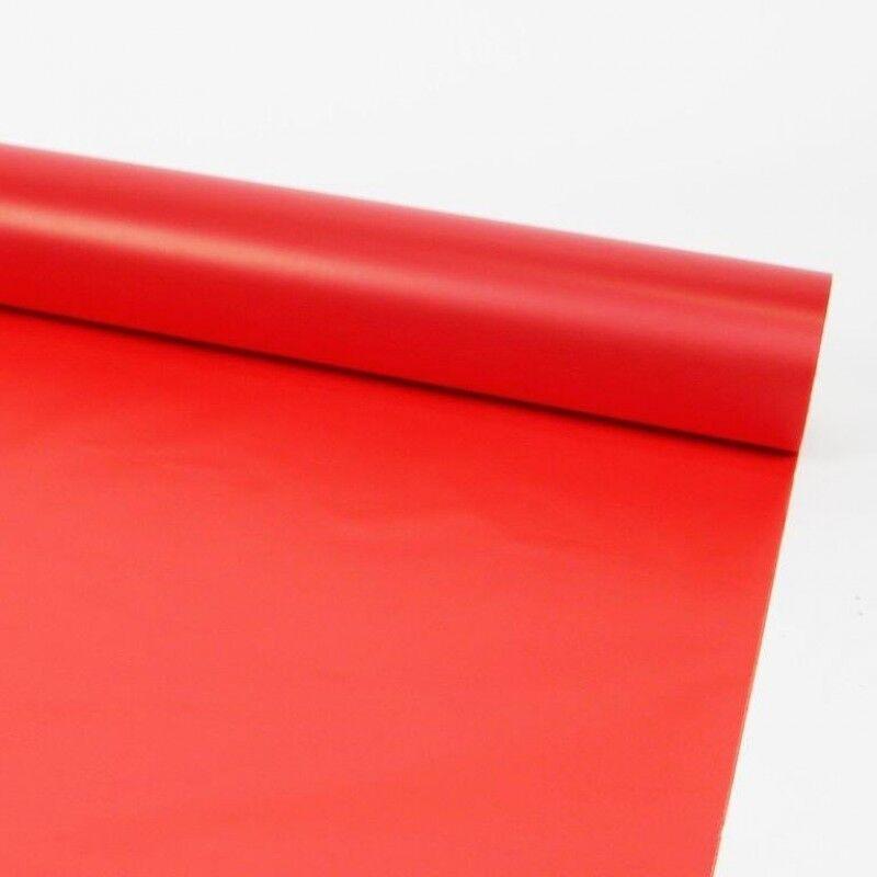80cm Rosso Satinato rossoolo Pellicola Tinta Unita Fiore Cesto Cesto Cesto Regalo Wrap 0d7de5