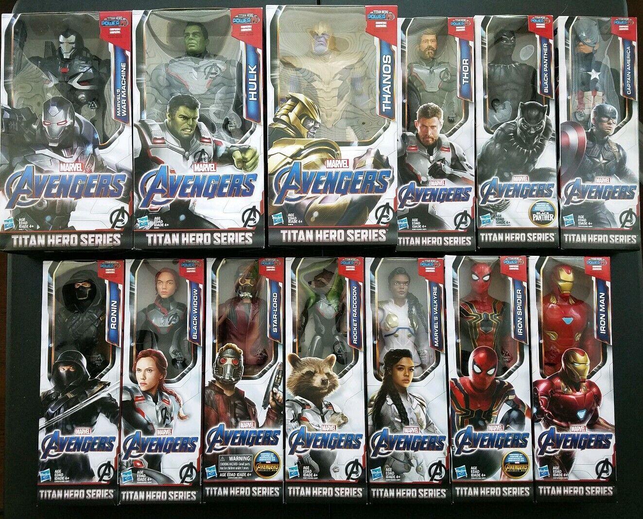 2019 Marvel Avengers EndGame Titan Hero Series 12  Action Figures Full Set of 13