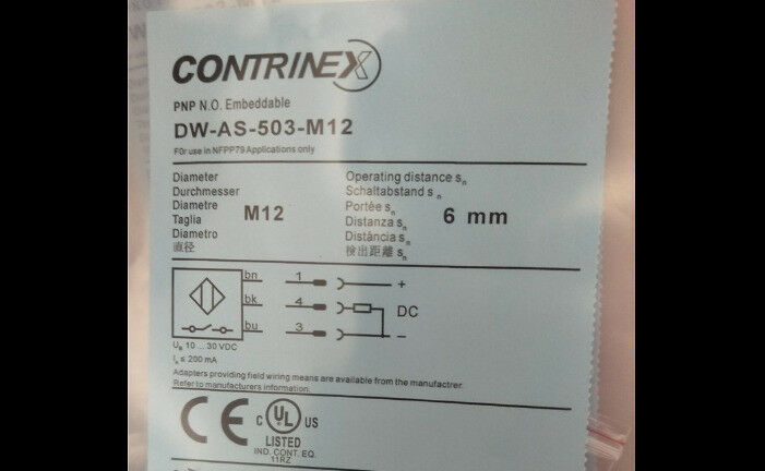 Frt   Mew  Contrinex  DW-AS-503-M12  Sensor   free shipping