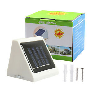 4-LED-Solar-Powered-Stairs-Fence-Garden-Security-Lamp-Outdoor-yard-home-Light