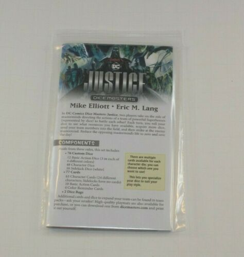 DC Dice Masters Justice Campaign Box Rulebook Rules 2019