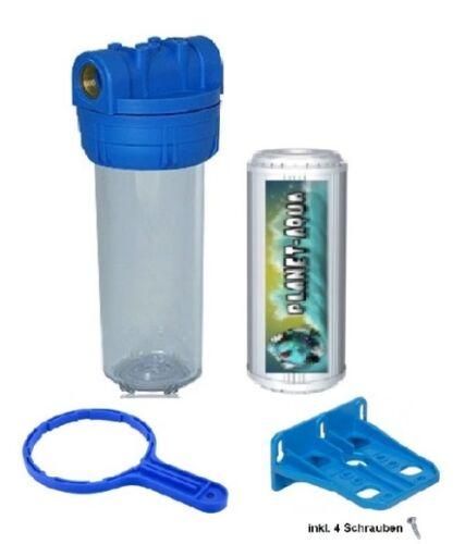 Filtergehäuse Set 10 1 IG + KALK Filter Wasserfilter Wasser Osmose Anlage Pumpe