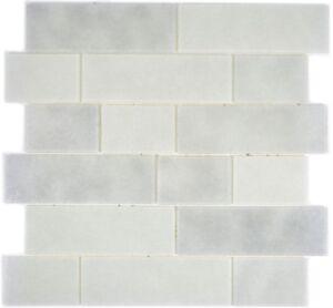 Glasmosaik-weiss-Fliesenspiegel-Kueche-Wandverkleidung-Bad-WC-68-0139L-10-Matten
