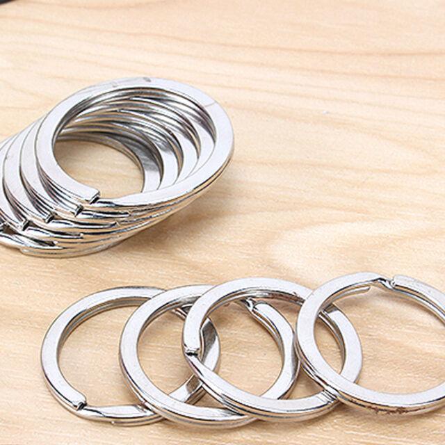 10Pcs Metal Key Holder Split Rings Keyring Keychain Keyfob Accessories 25mm