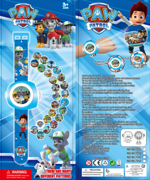 Projection watch projector Reloj proyector PAW PATROL PATRULLA CANINA 24  images d8160046b1