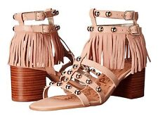 Sam Edelman Shaelynn Womens Sandals Leather Vaquero Saddle Soft Nude size 8 New