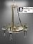 Indexbild 5 - Deckenleuchter Chandelier Gold Mäanderkante Acryl-Glas 6 Lampenschirm beige