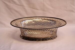 Magnificent English 1900 Repose Sterling Silver Basket 'must See' High Quality Materials Antiques