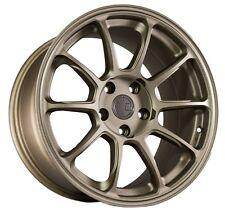 17X9 +35 Aodhan Ah06 5X114.3 BRONZE Wheels Fit Accord CIVIC SI Rsx 240SX TSX MR2