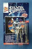 Silver Surfer Figure With Cd-rom Marvel Comic Book Toy Biz Toybiz 1996 6 Inch