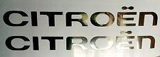 Citroen decal X 2 in chrome vinyl C1 C3 C4 Picasso DS Saxo Clio
