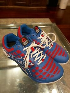 Reebok-Crossfit-Nano-3-0-Duracage-CF74-Sneaker-Shoes-Mens-Size-10-Red-White-Blue