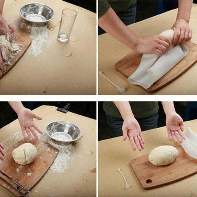 Small Silicone Kneading Bag Dough Making Flour Mixer Maker New Kitchen Tools White