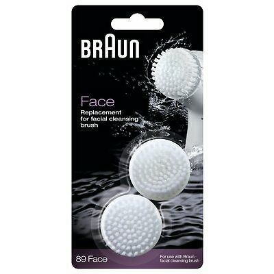 Braun SE89 Face 2pk Silk Epil Facial Cleansing Brush Refill Replacement