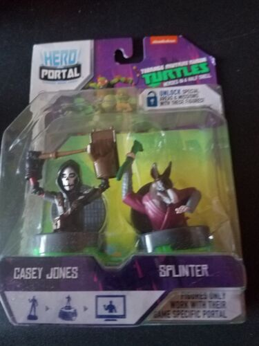 Teenage Mutant Ninja Turtle Hero Portal-Casey Jones /& Splinter for Hero Portal