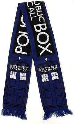 TARDIS Scarf Dr Doctor Who Time Machine Dress Up Halloween Costume Accessory