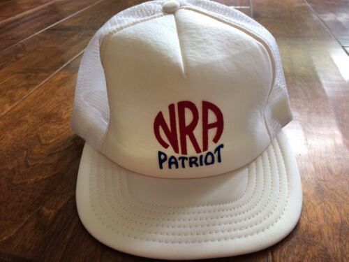 VINTAGE HAT 80's NRA Patriot SNAPBACK Mesh Adjusta