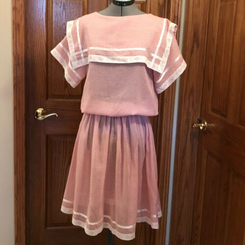 Vtg 70s RETRO Gunne Sax Dress Calico Prairie Peasa