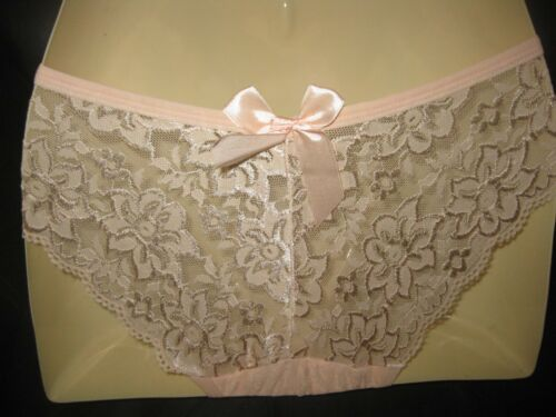 Ladies Bikini Briefs with lace back one size S various colours