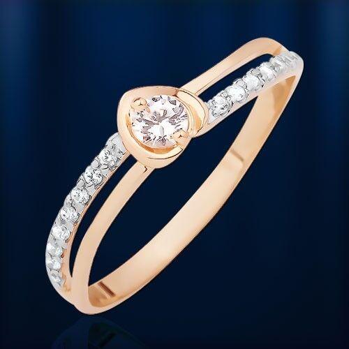 rosa russa oro 585 cuore ororing con con con CZ molto carini be17fa