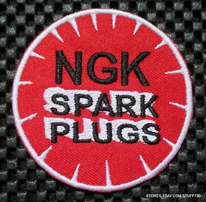 NGK-SPARK-PLUGS-EMBROIDERED-SEW-OR-IRON-ON-PATCH-CAR-TRUCK-RACE-3-034