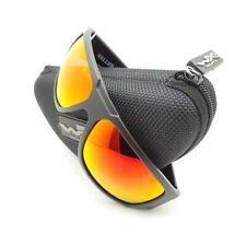 Wiley X Vallus Sunglasses Polarized Crimson Mirror Lens Matte Black Frame