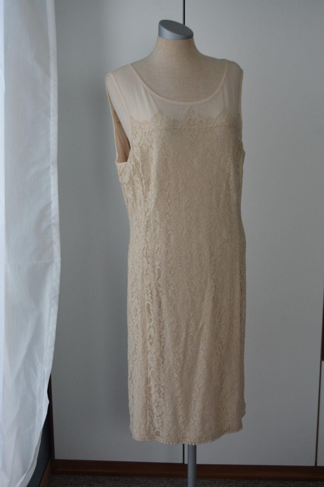 Kleid knielang Taifun Gr. 40 creme Spitze neu mit Etikett Sommerkleid festlich