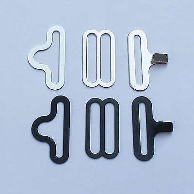 """50 Sets ¾"""" Bow Tie Hardware Bow tie and Cravat Clips Fasteners for Neckties"""