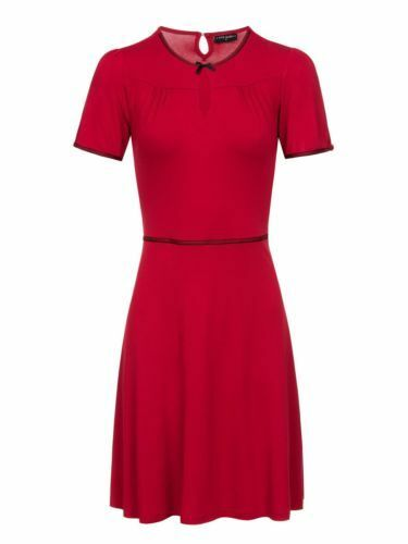 ausschnitt Vintage Maria Rot Dress Vive Charme Kleid Peephole V 31736 Red xYq7nCHWw