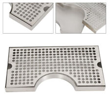 Stainless Steel Polished Removable No Drain Tap Draft Tower Beer Drip Tray 12x7