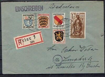 Deutschland Initiative Alibes Franz Zone Portogerechter R Brief Ii Gewichtsstufe Mit Rückschein Ab Trie Briefmarken