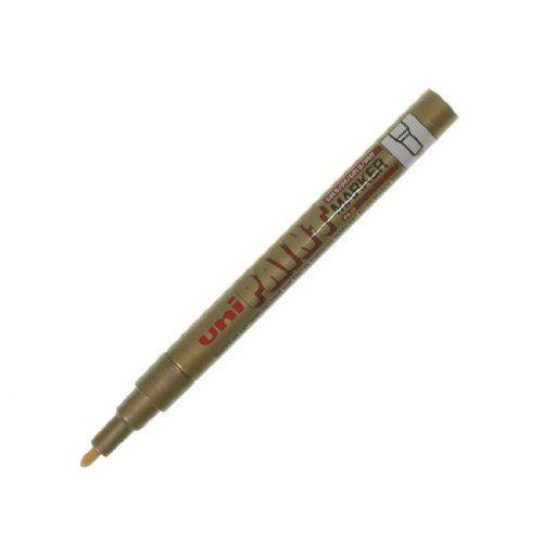 3 x Uni PX-21 Paint Markers Fine Bullet Tip Gold