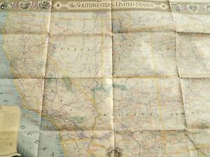 Details about Vintage Southwestern United States Map Poster National  Geographic 26 x 35 Inches