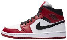 Air Jordan 1 Chicago mediados talón del dedo del pie Negro Rojo Retro Blanco 554724-173