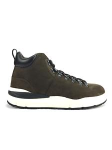 Woolrich Nabuk bota marrón oscuro con suela de goma Vibram