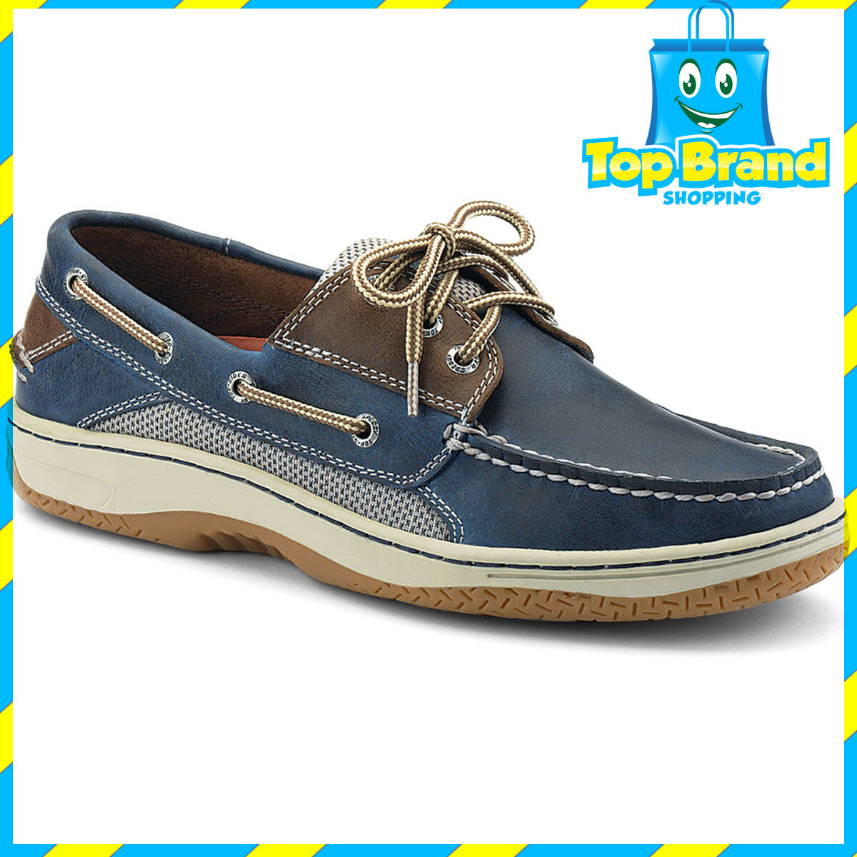 Sperry Mens Billfish 3-Eye Boat Shoe Navy, Shock Absorbing Shoes Casuals Boat