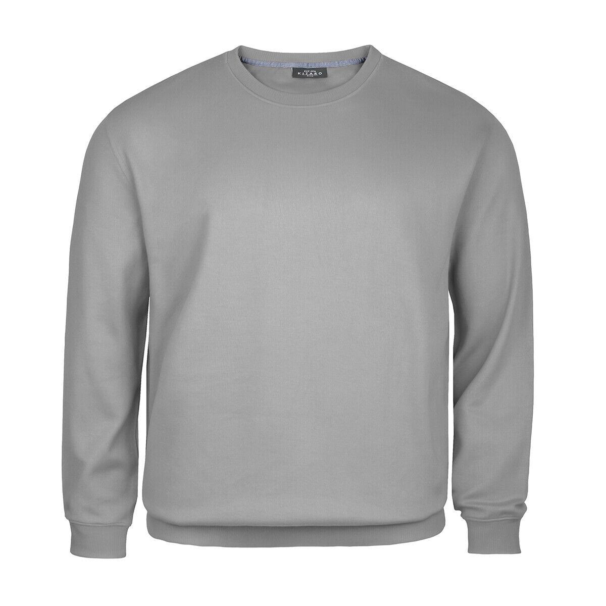 XXL Kitaro Sweatshirt Rundhals hellgrau meliert