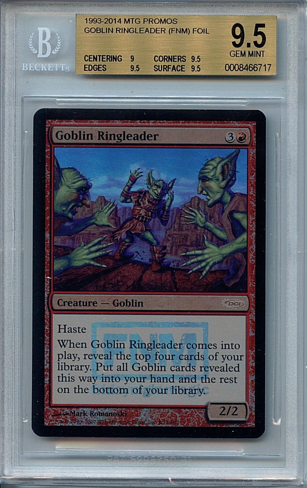 Mtg goblin - anfhrer bgs 9,5 mtg fnm promos magie folie karte amricons 6717