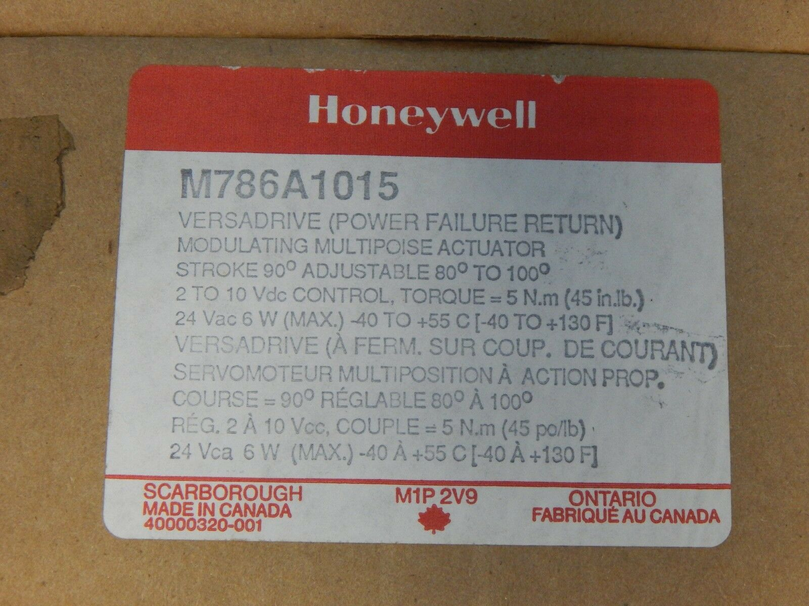 3 Honeywell M786a1015 Versa Drive 24v 50 60hz 6w M786 Ebay L4064b Wiring Diagram Custom Norton Secured Powered By Verisign