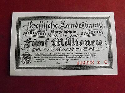 * Hessische Landesbank 5 Millionen Mark 1923(alb3) Wir Nehmen Kunden Als Unsere GöTter