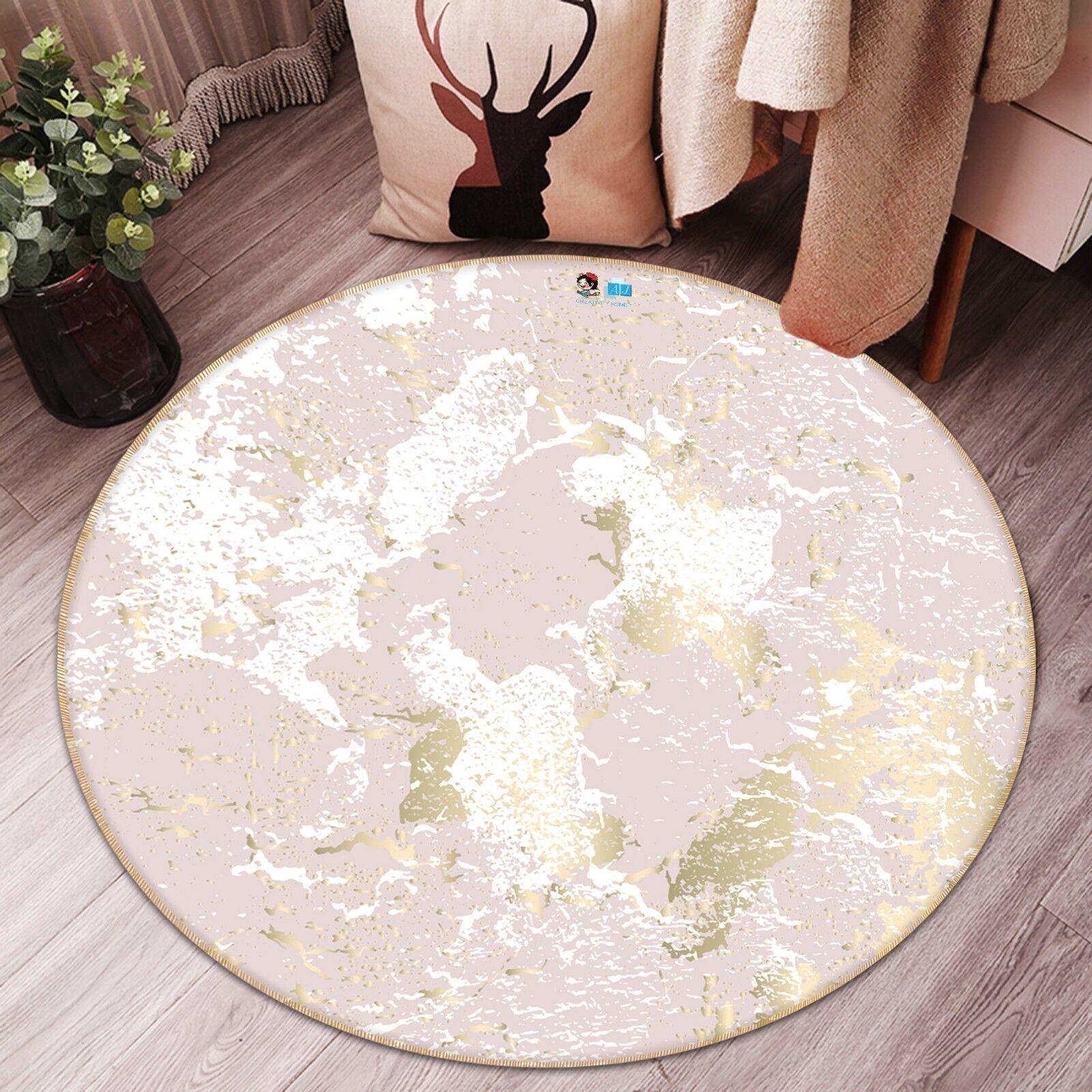3D Mottled Retro Rosa 9 Non Non Non Slip Rug Room Mat Round Quality elegant photo carpet 5465bb