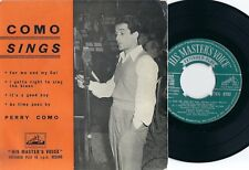 "7"" PERRY COMO 45 EP ""Como Sings"" British UK His Master´s Voice 7EG8192"