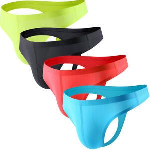 Men/'s Ice soie daily thong Sous-vêtements Classics Convex Pouch T-back bikini short