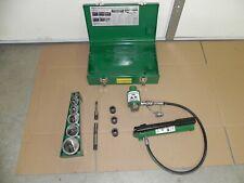 Greenlee 7506 Slug Splitter Hydraulic Knockout Set 12 To 2 W 767 Pump Case